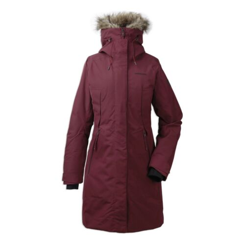 Didriksons Mea Womens Padded ParkaAnemon Red180 g//m² Padding Insulation