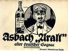 Asbach Uralt Cognac  Kriegsmarine Kapitän Annonce 1918