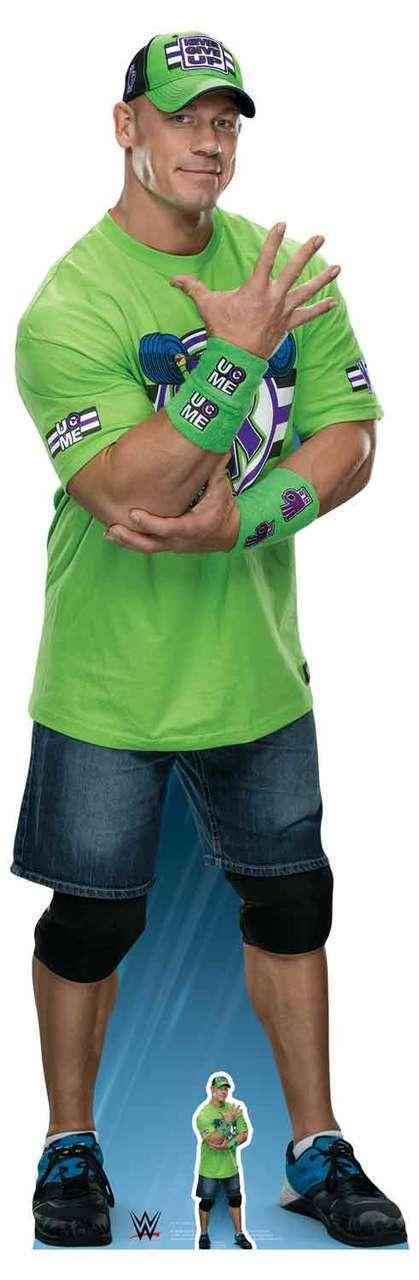 John Cena Hand WWE  LifeGröße and FREE Mini Cardboard Cutout   Standup   Standee