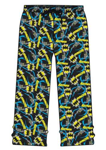 Mens Pyjamas Lounge Bottoms Pants Trousers BATMAN SUPERMAN MUPPETS ANIMAL MICKEY