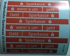 Straßenbahn Sparkasse Decals 1:87 oder H0 (20181212H0)