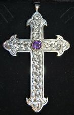 + Traditional Pectoral Cross + Sterling Silver + Fleur de lis + chalice co.