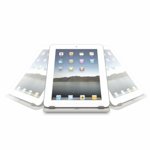 White Vantec TAC-100-WH Tablet Stand 360