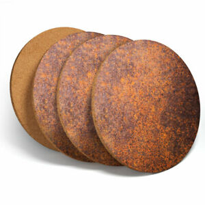 4-Set-Rusty-Copper-Effect-Style-Coasters-Kitchen-Drinks-Coaster-Gift-14654