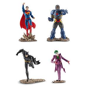 Schleich-Superman-Batman-Joker-Darkseid-Scenery-Pack-Set-4-x-toy-figure-NEW