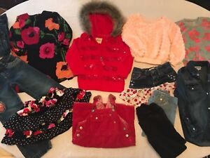 Girls-mixed-clothing-lot-sz-XS-4-5-Gap-Place-Old-Navy-Carters-Etc-Excel-Cond