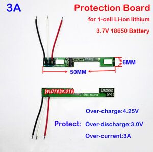 1S 2.2A 3.7V Li-ion Lithium 18650 Battery Charger PCB BMS Cell Protection Board