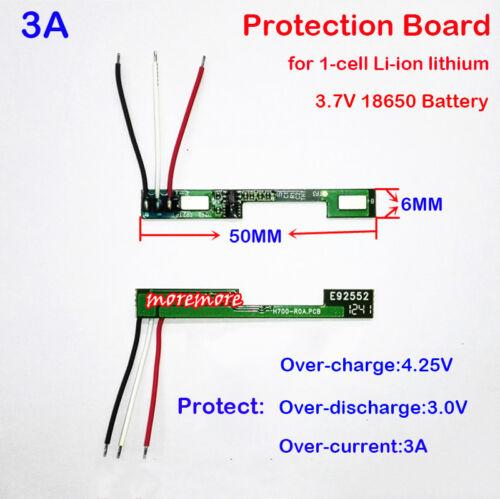 1S 3 A 3.7 V Li-ion de Litio 18650 Cargador De Batería PCB placa de protección de células BMS