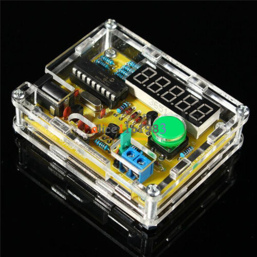 1Hz-50MHz Crystal Oscillator Tester Frequency Counter DIY Kits Meter w//Case