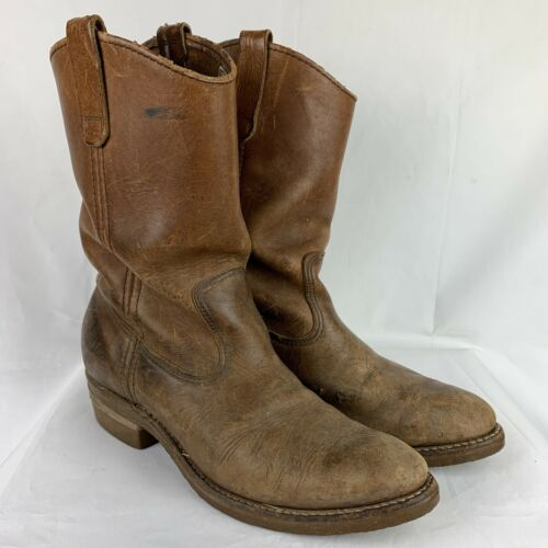 Vintage Red Wing Boots 8.5 Mens Pecos Leather BIKE