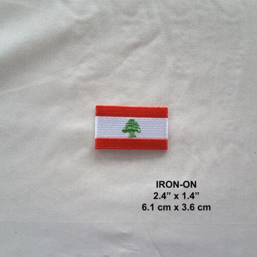 Lebanon Flag Embroidered Iron-on Emblem Patriotic Badge Lebanese Patch