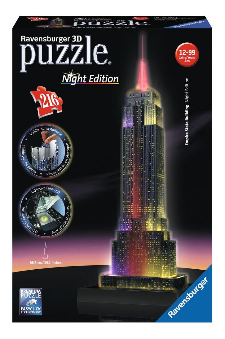 Ravensburger 612566 Empire State Building Night 3d Puzzle günstig kaufen Puzzles & Geduldspiele