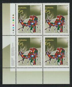 2002 Canada SC# 1966 LL - Christmas Aboriginal Art Plate Block M-NH Lot # 3519c