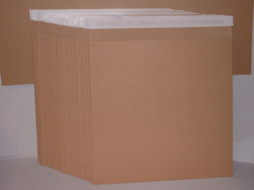 """/"""" 10 x STRONG Brown 12/""""//LP Quality Card Record Mailing Envelopes Mailers 550m"""