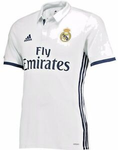 newest 1d90f 6203f Details about ADIDAS REAL MADRID AUTHENTIC ADIZERO HOME MATCH JERSEY  2016/17.