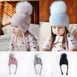 d1f5df1f52b Baby Girl Boy Toddler Kids Winter Knit Woolen Hat Cap Beanie Bonnet ...