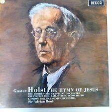 vinyl lp record HOLST the hymn of Jesus, Sir Adrian Boult, Decca SXL 6006