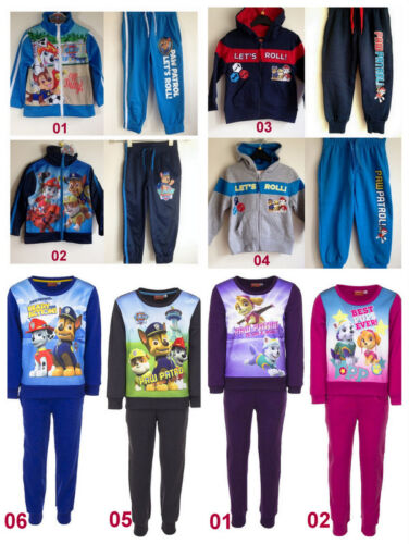 Details about  Boys Girls Kids Paw Patrol Tracksuit Jogging Outfit Set Zipped Jacket age 26yrs
