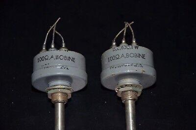 #5 Cerámica de alambre herida potenciómetros 100 Ohms PPB-1A 1 W nos