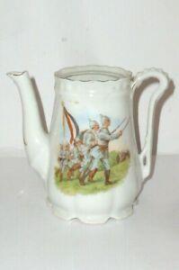 Ancienne-Patriotique-Cruche-Militaire-1-Weltkrieg-Reservistika-1-WK-Soldat