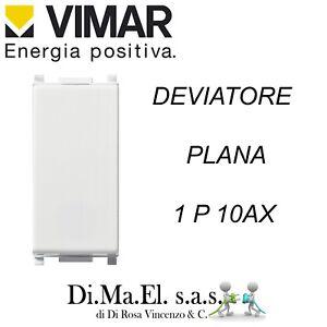 VIMAR Plana 14004 Deviatore 10 AX 250 V Illuminabile Bianco 1Pz New