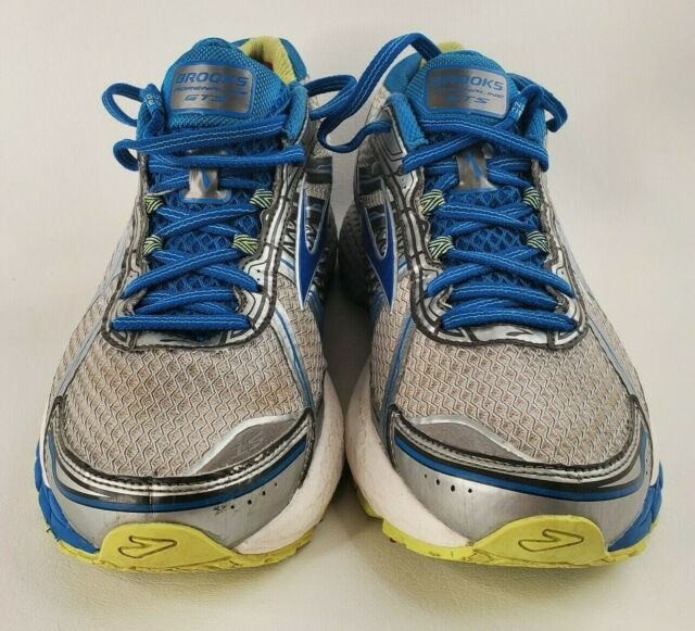 Brooks Adrenaline GTS 15 Women's Running Shoes Blue White Grey Wide(D) Size 10