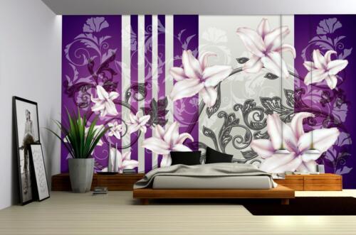 Papier Peint papiers peints photos papier peint poster photo poster Nature Fleurs Violet 3fx1203ve
