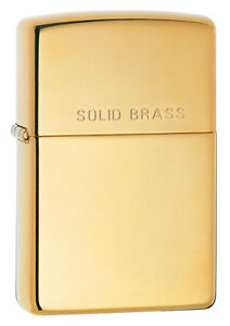 Zippo Windproof High Polished Brass Lighter With SOLID BRASS, 254, New In Box