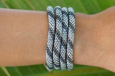 2019 Neuer Stil Sashka Co Silber Himmel Glasperlen Rolle Armband Nepal Free Trade + Schnelle WäRmeableitung