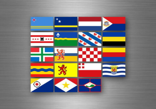 Flag sheet sticker labels country subdivisions states province netherlands dutch