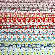 25cm Squares Bundle - Graphics - All colours - Cotton Fabric Patchwork Quilting