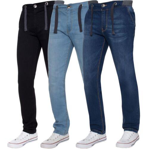 Kruze Designer Boys Elasticated Jeans Ribbed Waist Stretch Kids Denim Trousers