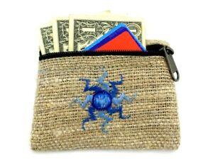 Hemp-Coin-Purse-Blue-Sun-Natural-Bag-Pouch-Credit-Card-ID-Holder-Vegan-Wallet