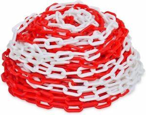 CATENA SEGNALETICA IN PLASTICA BICOLORE ROSSO BIANCO PVC D. 5,5 mm VARIE MISURE