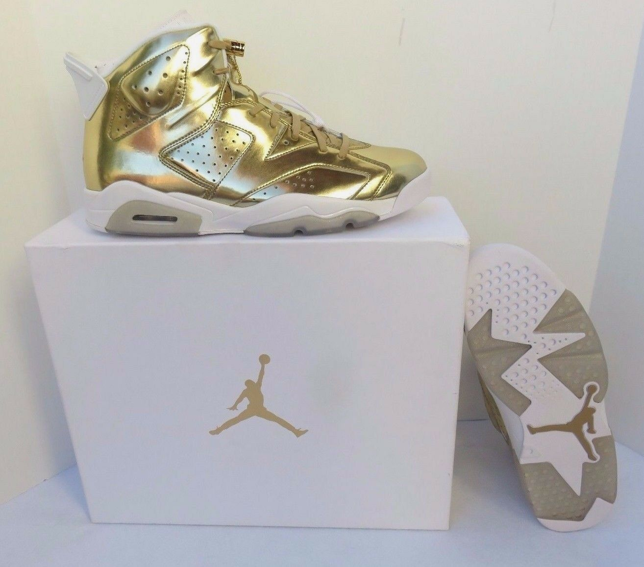 Nike air jordan 6 retrò pinnacle oro - dimensioni, il sergente w / box e borsa