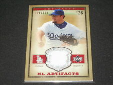 ERIC GAGNE DODGERS CERTIFIED GENUINE AUTHENTIC GAME USED JERSEY CARD /250