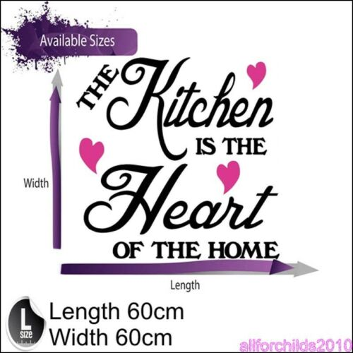 STICKER  KITCHEN AFC4 THE KITCHEN IS THE HEART OF THE HOME ---LARGE SIZE----
