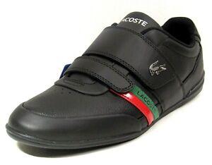 Lacoste-Misano-Strap-Walking-Men-Casual-Leather-Dress-Shoes-Black-7-39CMA00881B4