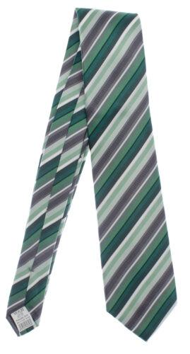 Seidenkrawatte gestreift grün grau 100/% Seide Krawatte Monti Herren