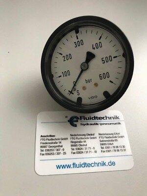 "Druckmessgerät 63mm 0-600 bar G1//4/""Axial Gehäuse Kunststoff schwarz Manometer"