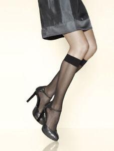 Taille S Knee-highs. Mi-bas voile GERBE GIRL coloris Noir