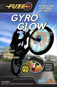 Fuze Gyro Glow roue montée rayons de lumières pour 18 in (environ 45.72 cm) Roues et  </span>