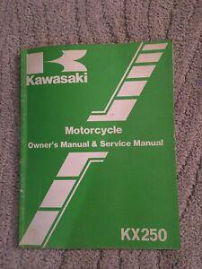 1986-Kawasaki-KX250-Motorcycle-Owner-amp-Service-Manual