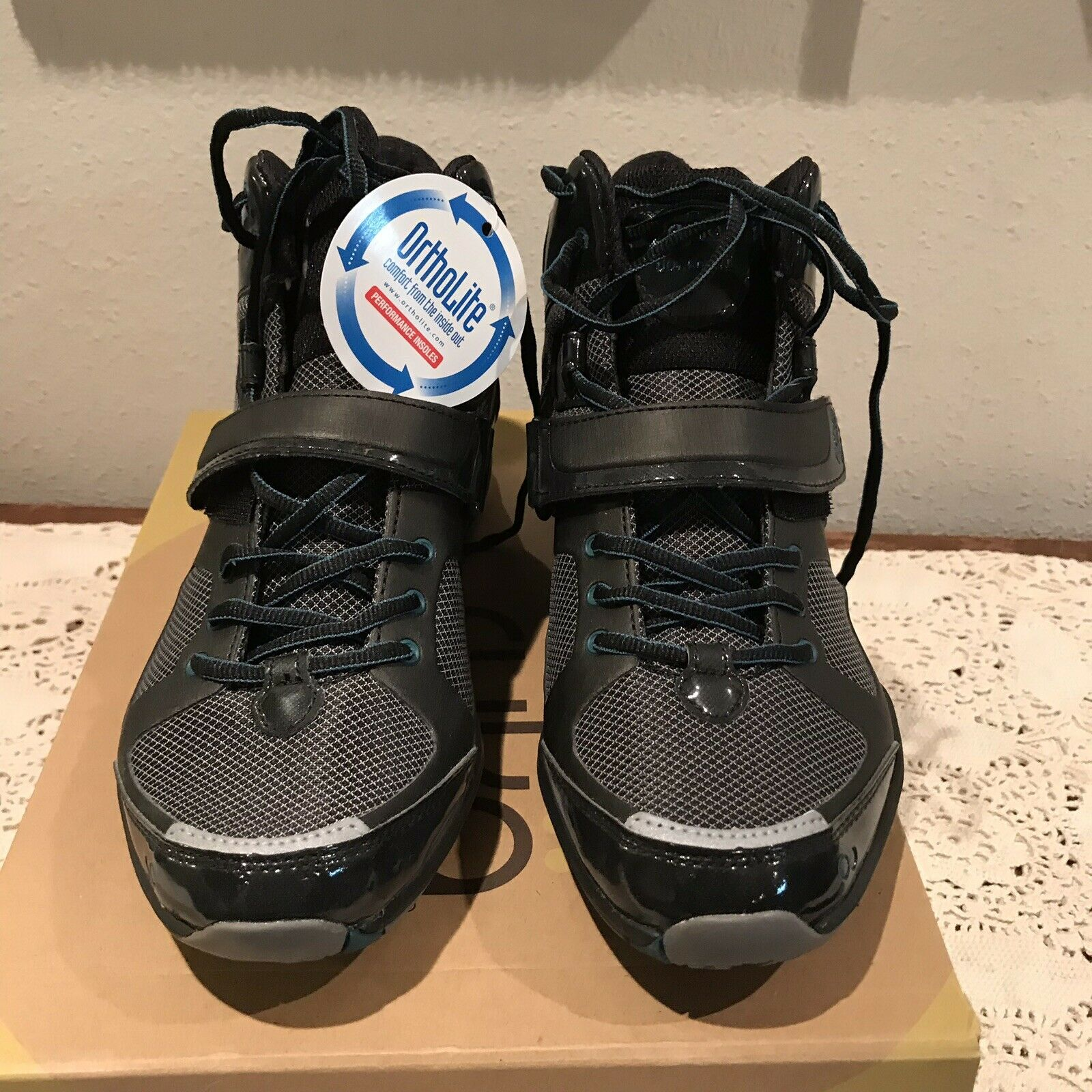 Ryka Downbeat Ortholite Mid Athletic Athletic Athletic shoes Black Teal Womens Size 9 New 95dd6a