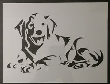 "Golden Labrador LAB Retriever Dog 11"" x 8.5"" Custom Stencil FAST FREE SHIPPING"