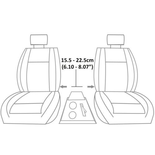 Grey Armrest Arm Rest Centre Console Storage Box Cup Holders For Cadillac