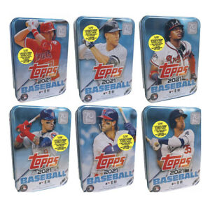 2021 Topps Baseball - Factory Sealed Collectible Tin Set - Complete Set From Lot
