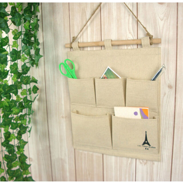 Tower 5 Pockets Closet Door Home Wall Hanging Organizer Storage Stuff Bag Pouch