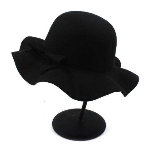 Fashion 100/% Wool Winter Autumn Kids Soft Wide Brim Fedora Hat for Girl Feminino