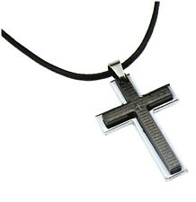Men's Cross Pendant alloy necklace - UK seller